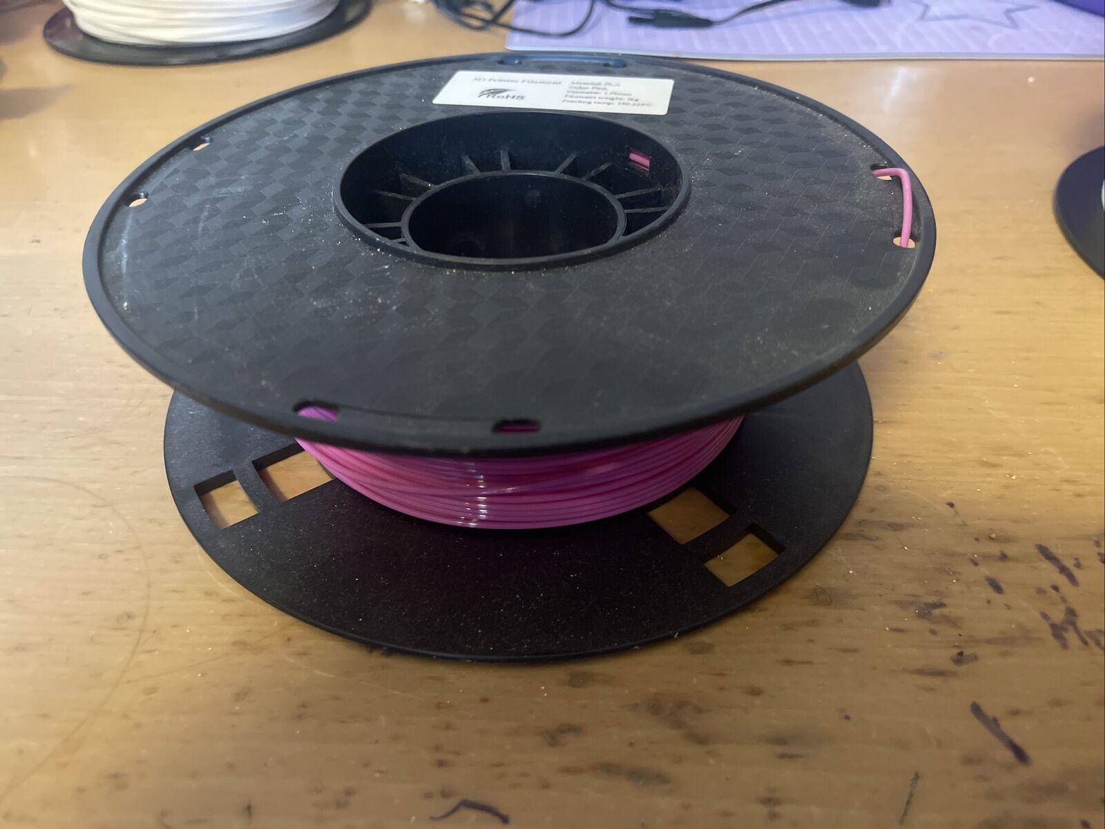 Pink Filament 1.75mm Half A 1KG Roll