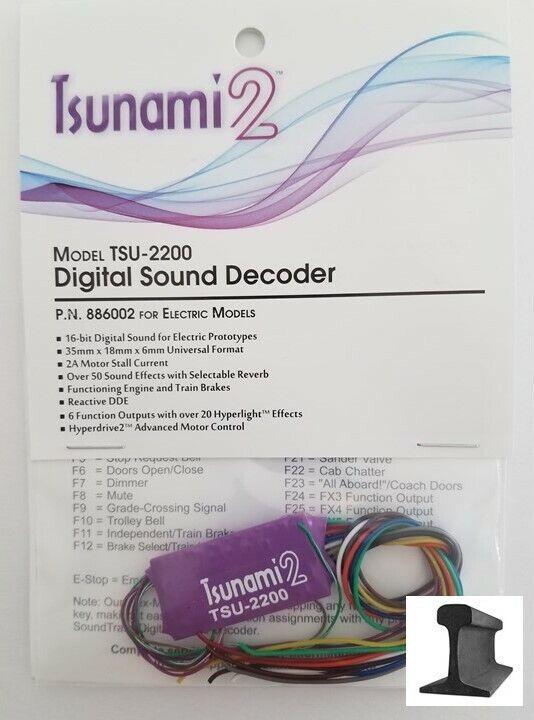 Soundtraxx Tsunami  nuevo 2019  2  TSU-2200  886002 sonidos de motor eléctrico