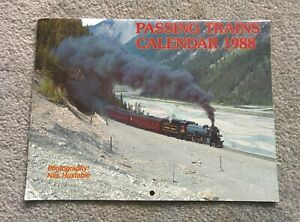 PASSING TRAINS 1988 CALENDAR Great Photos For Reference to Frame or Craft with