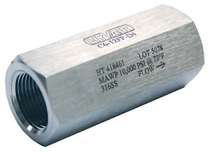 """3/4"""" Stainless Steel High Pressure Check Valve, 10,000 PSI ..."""