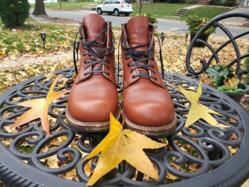 Red Wing BECKMAN 9022 Brick Settler Leather 8.5D -