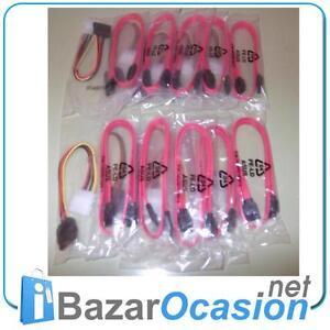 Lote-Cables-10-x-SATA-datos-10-x-SATA-MOLEX-Alimentacion