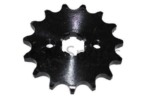 Dirt Pit Bike 15 Tooth Front Sprocket 49cc 50cc 70cc BAJA DR50 Dirt Runner 49 70