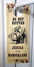 Alice in Wonderland Personalised 'Do Not Disturb' Door Sign/Hanger