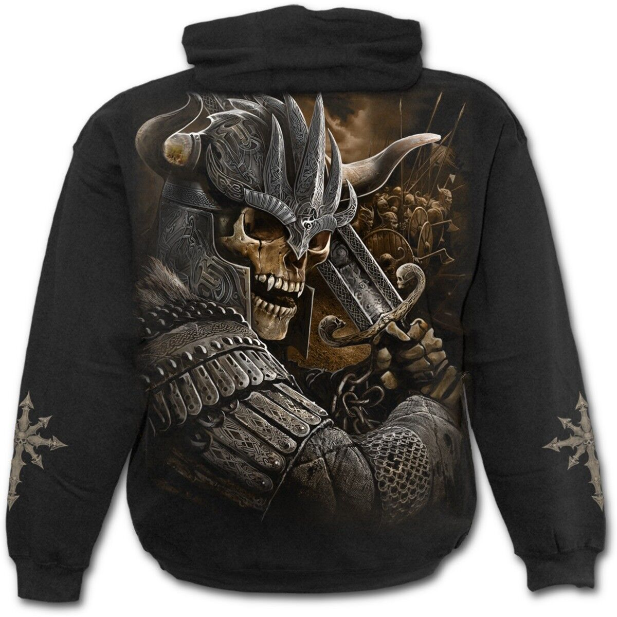 Spiral Celtic Direct VIKING WARRIOR - Hoodie Celtic Spiral Blade Oriental Honor Zombie 3a9b6c