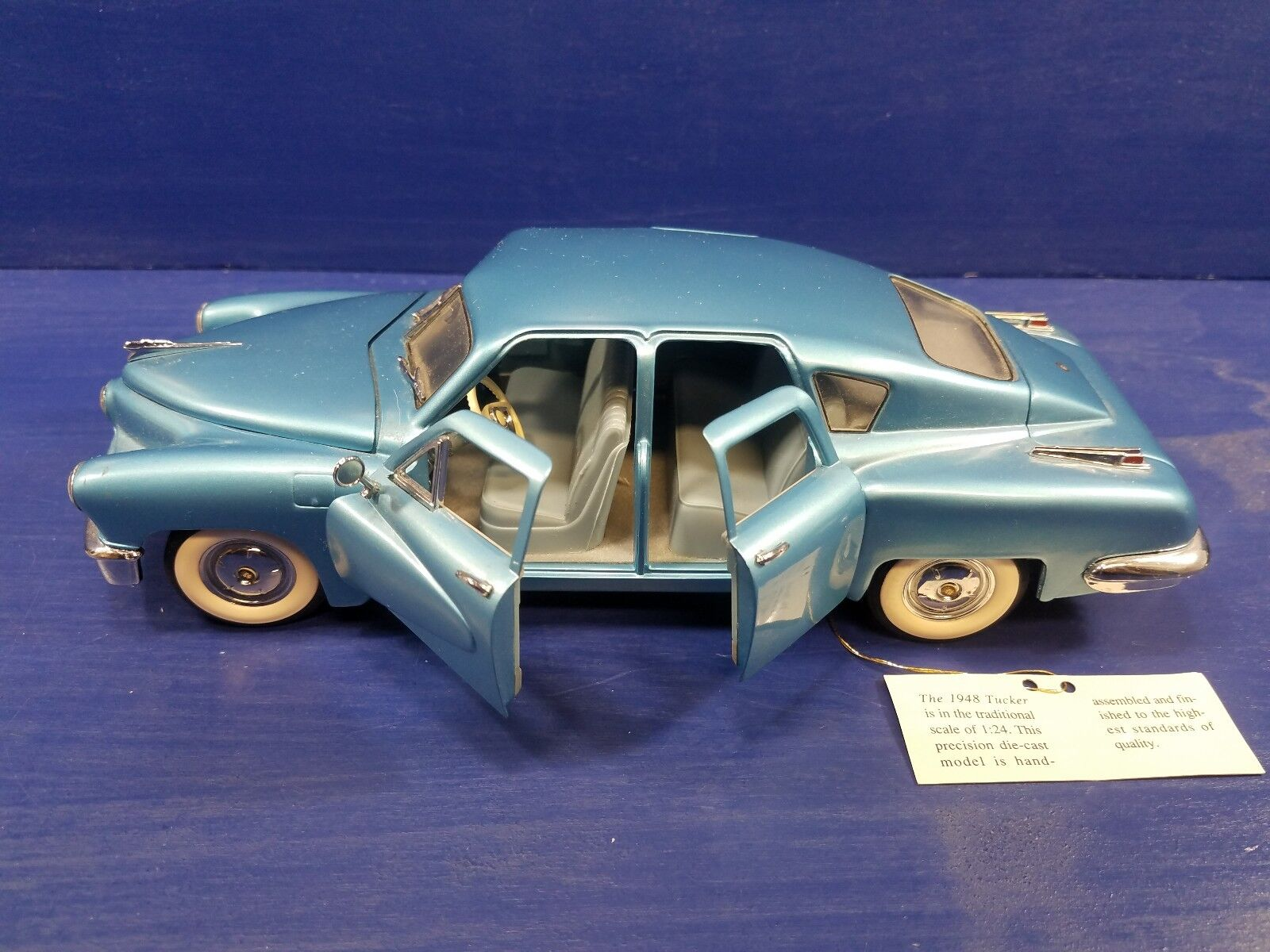 FRANKLIN MINT 1948 TUCKER DIECAST RARE 1 24 SCALE WITH TAG