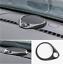 1PCS Carbon Fiber Dashboard Speaker Cover Trim For 2014-2018 Jeep Grand Cherokee