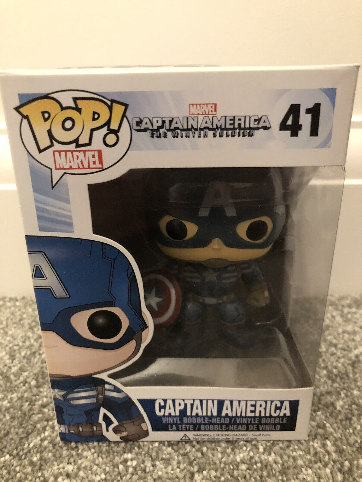 Funko Pop  Marvel The Winter Soldier Captain America  41 vaulted