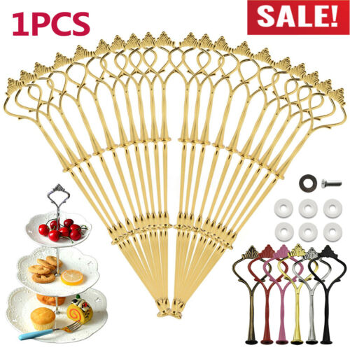 3 Tier Cake Cupcake Plate Stand Handle Fitting Hardware Rod Wedding Party Decor