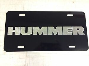 Transformers Autobot Logo Car Tag Diamond Etched on Black Aluminum License Plate