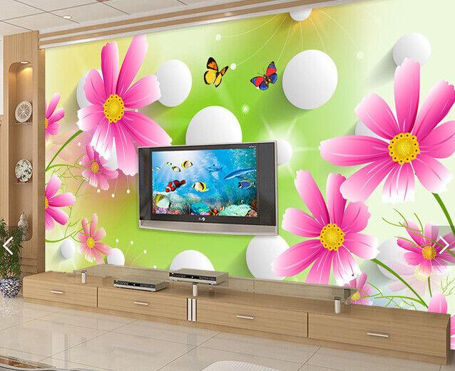 3D Flowers 4115 Wallpaper Murals Wall Print Wallpaper Mural AJ WALL UK Carly