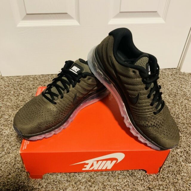 brand new 63932 57478 NEW NIKE MEN S Air Max 2017 Running Olive Green Cargo Khaki size10 (849559  ...