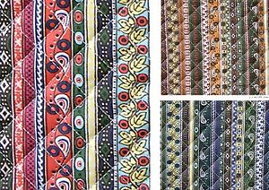 Ethnic-Bohemian-Ready-quilted-Fabric-cotton-Pre-quilted-padded-striped-974521