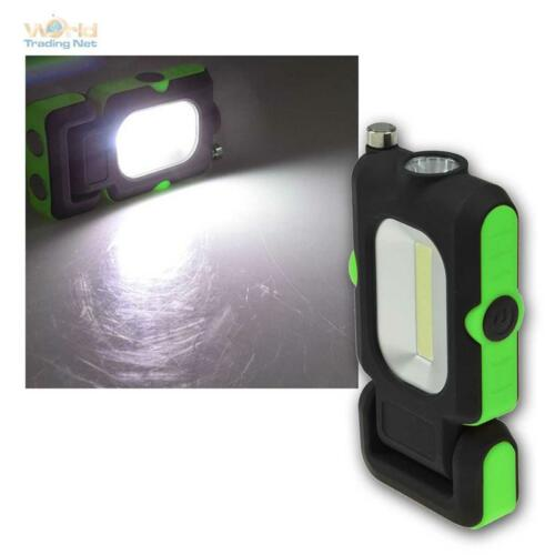 "mit Magnetfuß LED Arbeitsleuchte /""CAL-COB Flexi/"" 3W 220lm PickUp /& Haken"