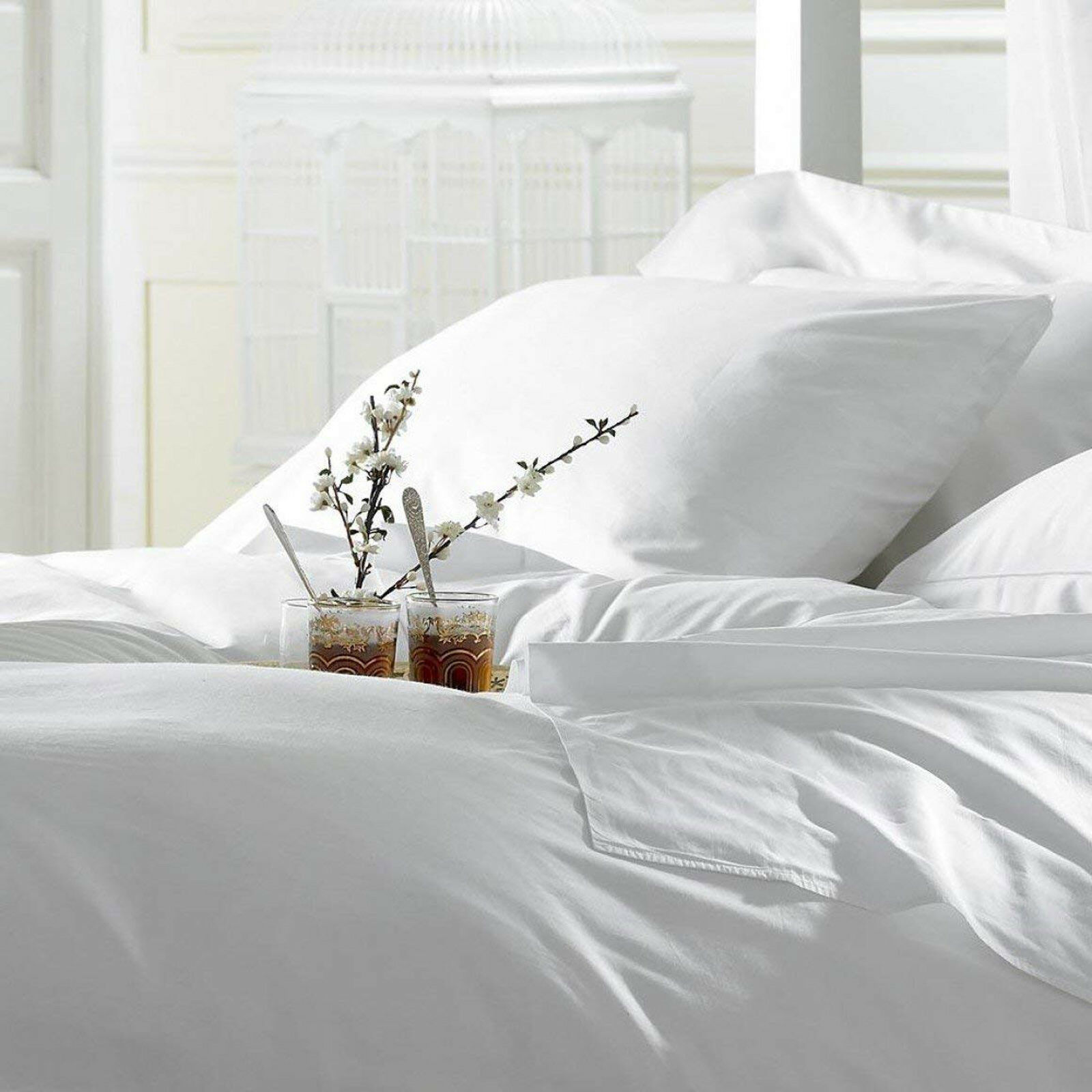 1800 Thread Count Fitted Bed Sheets Ultra Soft & Strong Wrinkle Resistant 2Size