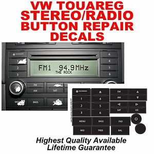 vw touareg standard radio stereo button repair stickers. Black Bedroom Furniture Sets. Home Design Ideas