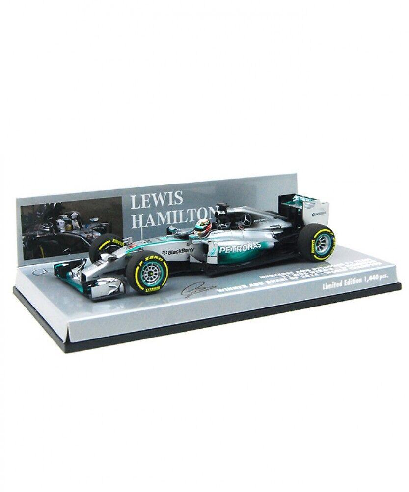 Nuovo Minichamps 1/43 Mercedes AMG Petronas W05 Abu Dhabi GP 2014 L.Hamilton Japan