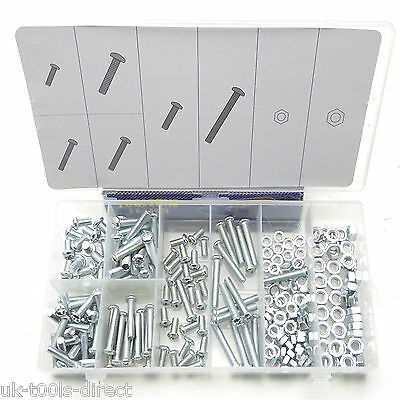 220pc Nut & Bolt Assorted Phillips Dome Head Bolt-Screw Metric M5 M6 Nuts Bolts