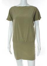 ETRO Beige Tan Short Sleeve Crew Neck Stretch Mini Dress Sz IT 42