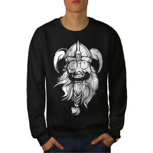 Crazy Funny Men Black Viking Joke Felpa New 7wTqd7