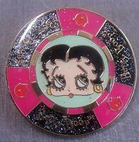 Betty Boop Poker Chip Lapel Pin