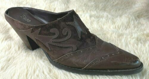 Bass Cowboy Slide Boot 8.5 Brown Western Mules Vi… - image 1