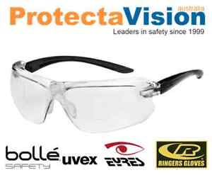 b48685e8e3 Bolle IRI-S Diopter - Bi Focal   Reader Safety Glasses Clear Lens 5 ...