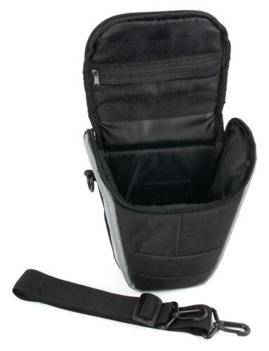 Black /& Silver Case W// Shoulder Strap for The Nikon D3400 Camera
