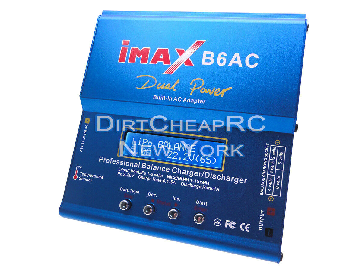 IMAX B6AC AIR 5A 50W AC DC LiPo Battery Balance Charger XT60 EC3 Tamiya Walkera