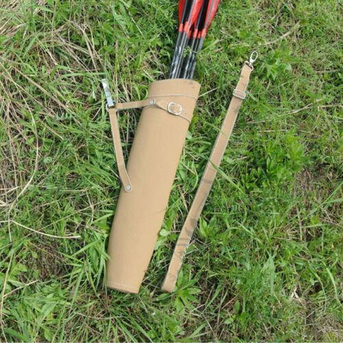 Archery Hunting Arrow Back Quiver Shoulder Bag Pocket Holder Adjusted Strap Belt