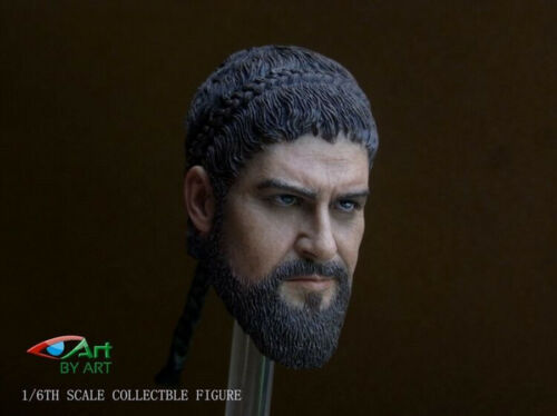 "1//6 Scale Sparta 300 Warriors King Leonidas Head Sculpt 12/"" Action Figure Body"