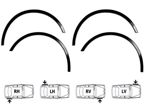 Chrysler 300C Radlauf Zierleisten SCHWARZ MATT VorneHinten Satz 4  Bj 04-10 NEU