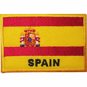 Spain-Flag-Embroidered-Iron-Sew-On-Clothes-Spanish-Patch-T-Shirt-Bag-Hat-Badge