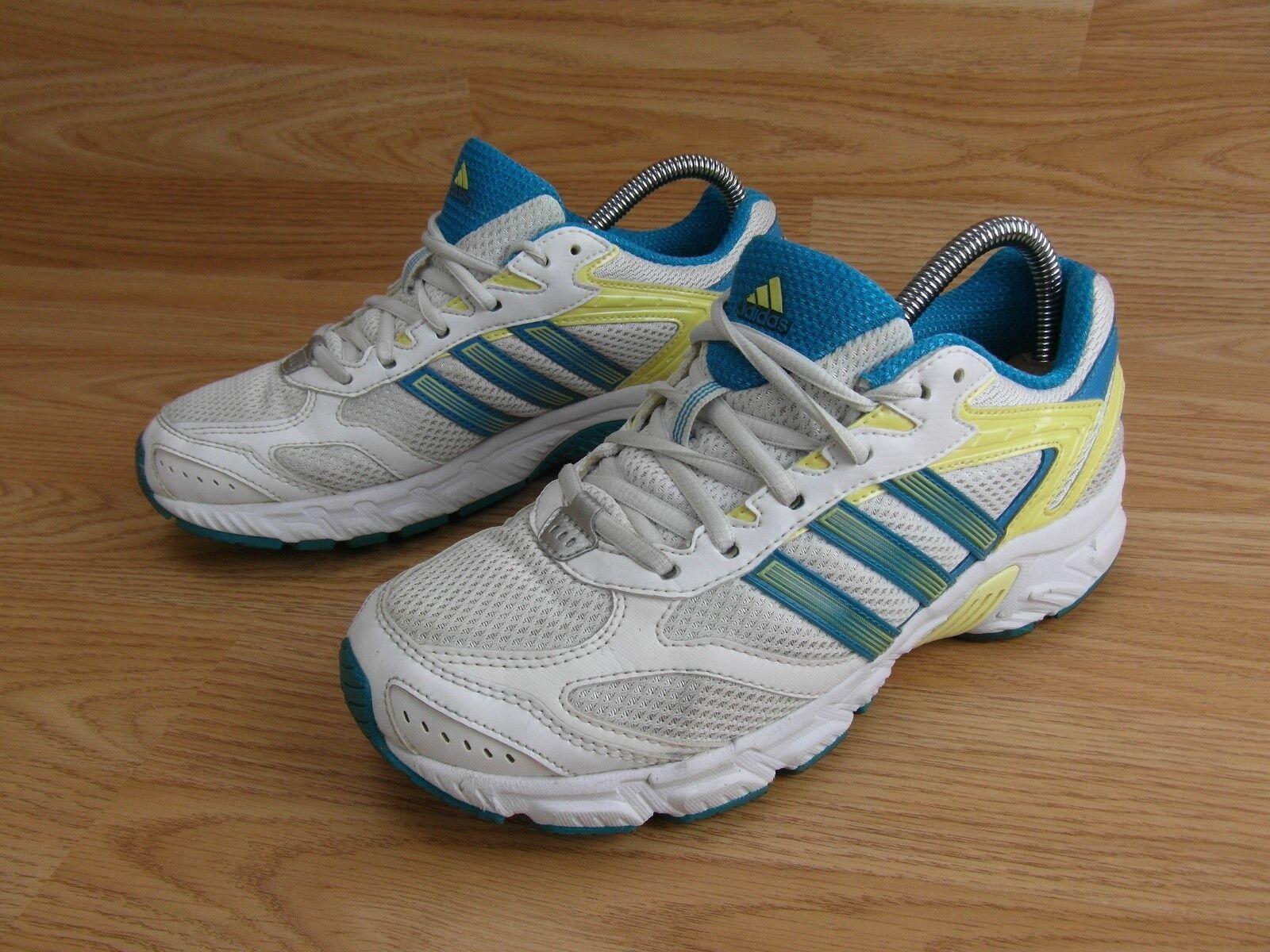 Femmes Adidas Bleu Blanc Jaune Baskets Léger Chaussures De Course 5 UK 38 eur
