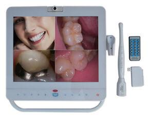 Système de moniteur dentaire caméra intra-orale sans fil avec 15 inchs blanc VGA