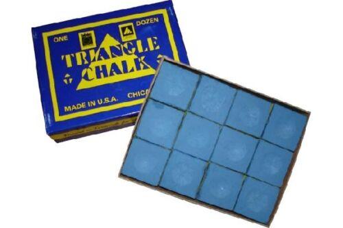 """Billard Kreide Billardkreide /""""Triangle/"""" blau 12er Pack"""