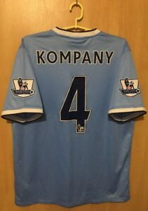 new style 1baee e25b2 Details about MANCHESTER CITY 2013/2014 HOME FOOTBALL SHIRT JERSEY VINCENT  KOMPANY #4