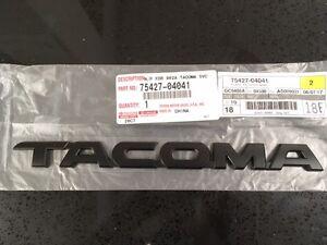 2005 2015 tacoma flat black door tailgate emblem genuine. Black Bedroom Furniture Sets. Home Design Ideas