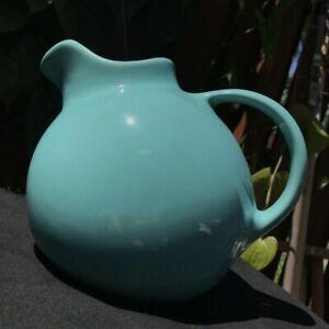 RARE MCM Ice Blue 1940s Franciscan Pottery Ceramic Ball Jug Pitcher 99 Cali