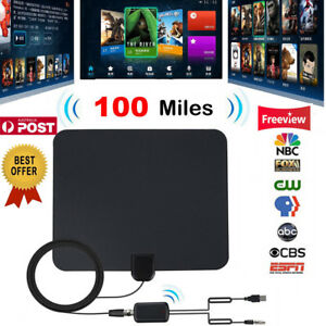 HD-Antenna-EZ-Digital-TV-FOX-HDTV-Bandit-Cable-New-Free-Skywire-Easy-Channels-UE