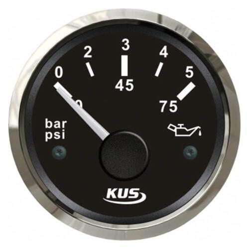 KUS Instrumente Öldruckanzeige 10-184 Ohm oder 240-33,5 Ohm schwarz