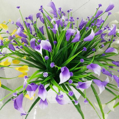 20 Köpfe Künstliche Kunststoff Calla Lily Kunst Blumen Pflanzen Haus Zimmer Deko