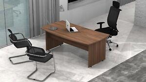 Ufficio Direzionale Legno : Scrivania ufficio legno sagomata direzionale l xp mobili