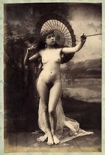 Photo Marconi Albuminé Etude de Nue Féminin Vers 1870