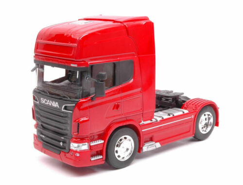 2015 Red Camion Truck 1:32 Model WELLY 4x2 Scania R730 V8