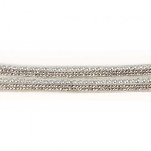 Black Grey Blue White Crystal Pink Gold Wrap Studs Infinity Bracelet LilyRosa