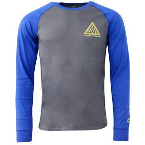 Nike-Athletics-West-END-Long-Sleeved-T-Shirt-Top-Mens-Grey-Blue-405115-021-R18E