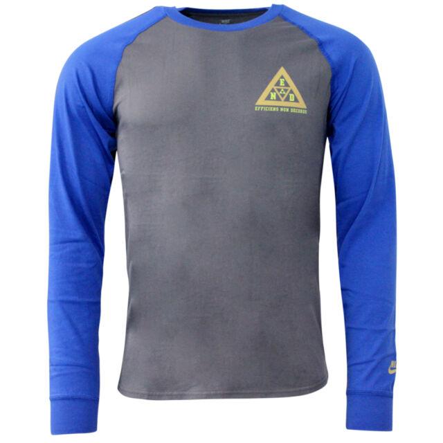 Nike Atletismo West End Manga Larga Camiseta Hombre Gris Azul 405115 021 R10I
