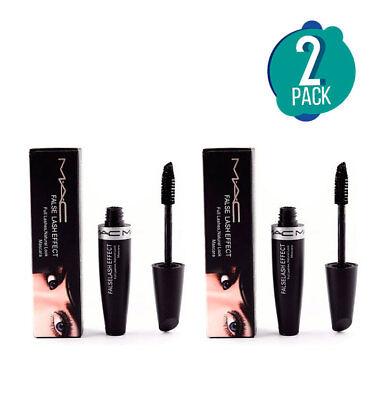 6243396c0ab 2 Pack MAC False Lashes Extreme Black Mascara Makeup - Full Size   eBay
