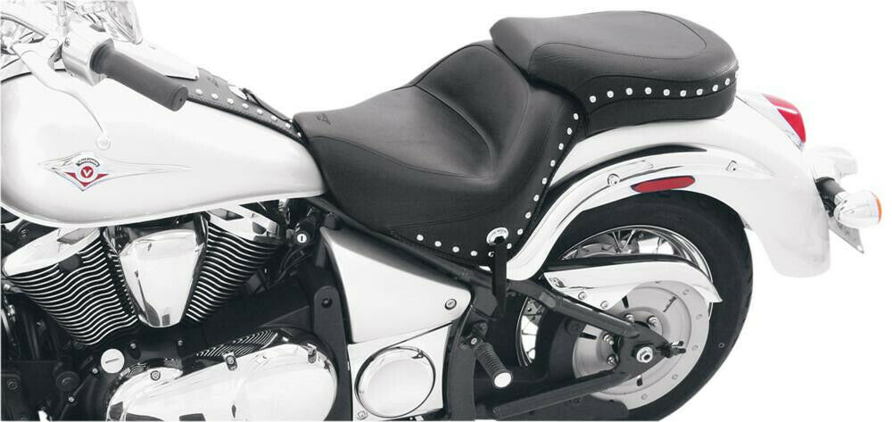 Seat one-piece wide touring 2-up studded with conchos - KAWASAKI VN VULCAN...